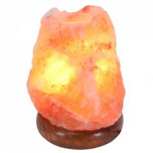 Lampa aromaterapie cu cristal de sare roz de Himalaia 17cm