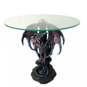 Masuta sticla dragon Gardianul albastru 36 cm