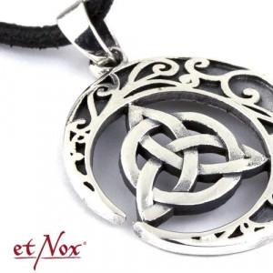 Pandantiv bronz placat cu argint Nod Celtic