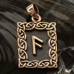 Pandantiv bronz runa Ansuz