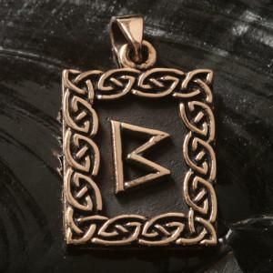 Pandantiv bronz runa Berkano