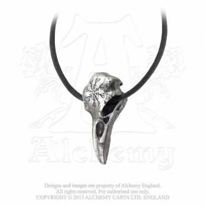 Pandantiv Craniu corb cu Carma terorii