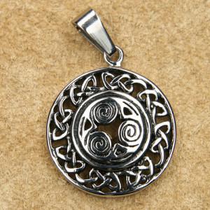 Pandantiv otel inoxidabil Triskelion celtic