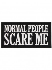 Petic textil decorativ / Patch brodat Normal People Scare Me