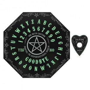 Placa Ouija Spirit Board octagonala, fosforescenta