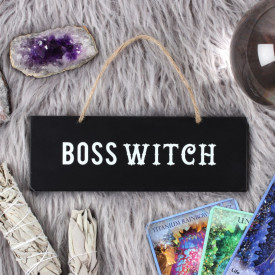 Placuta decorativa lemn Boss Witch