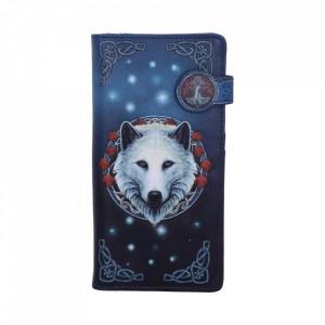 Portofel embosat lupi Gardianul Toamnei - Lisa Parker - 19 cm