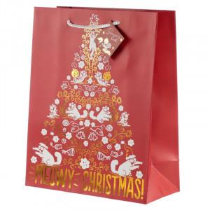 Punga cadou de Craciun Meowy Christmas - mare