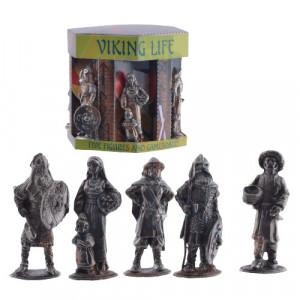 Set cinci figurine metal Vikingi 4cm