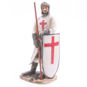 Statuetă cavaler medieval Cruciat Gata de Lupta 20 cm