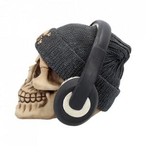 Statueta craniu Dead Beat - gri 17 cm