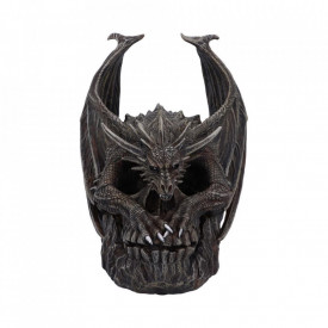 Statueta craniu dragon Draco 19cm