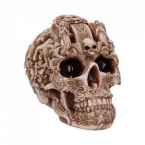 Statueta craniu sculptat Gothic 19cm
