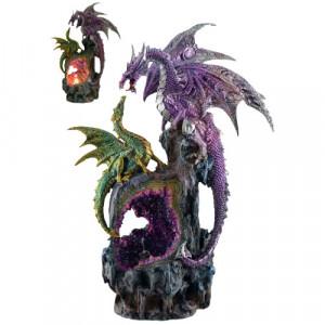 Statueta cu led Dragoni 33cm