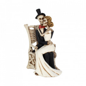 Statueta cuplu gotic La bine si la rau 25 cm