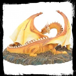 Statueta dragon cu pui The Brood 21 cm
