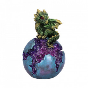Statueta dragon Geode Guard (verde) 12.7cm
