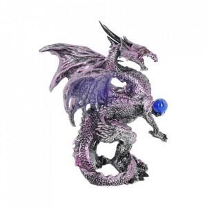 Statueta dragon Splendoarea violet 14.5 cm