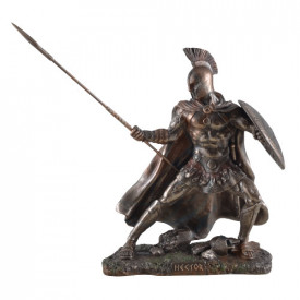 Statueta finisaj bronz Hector - printul troian