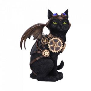 Statueta pisica steampunk Zborul felinei 22.7cm