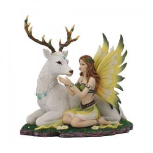 Statueta zana cu cerb Adoration 23.5 cm