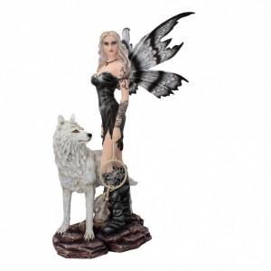Statueta zana cu lup Rieka 57 cm