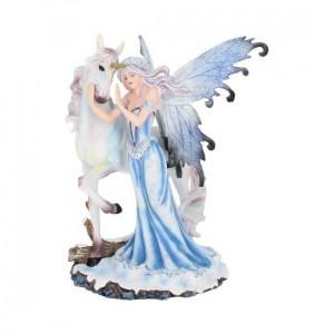 Statuetă zână și unicorn Alinare