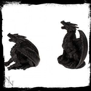 Statuete dragoni Furia neagră (set)