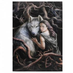 Tablou canvas zana si lup, Suflete Pereche 50x70cm - Anne Stokes