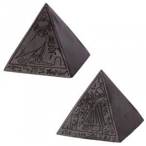 Statueta Piramida Egipteana Neagra Cu Hieroglife 5 cm