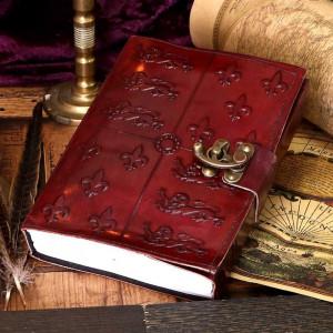 Agenda / Jurnal cu coperti din piele si incuietoare Medieval 15x21 cm