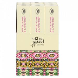 Betisoare de tamaie parfumate Native Soul - Salvie Alba si Levantica