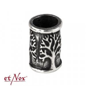 Bijuterie pentru barba/par bronz placat cu argint Copacul Vietii