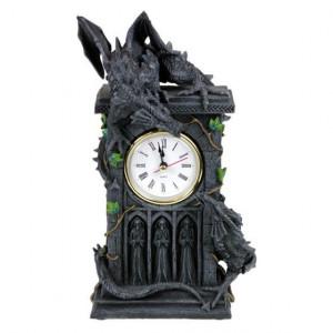 Ceas de birou gotic Duelul dragonilor
