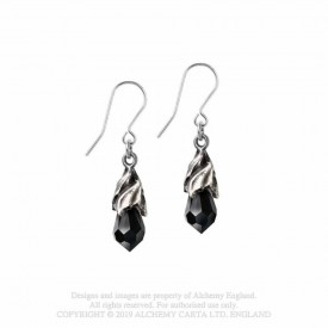 Cercei Lacrima Divina - cristal negru