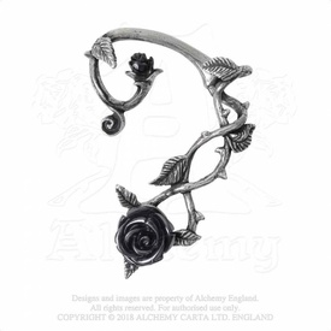 Cercel Ear Wrap Trandafirul Negru