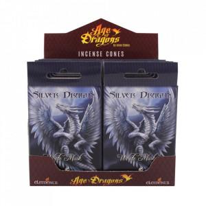Conuri de tamaie Silver Dragon, Anne Stokes, Mosc Alb