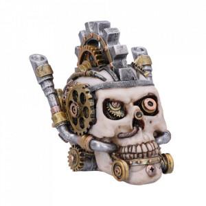 Cutie bijuterii craniu Metal Head 15.5 cm