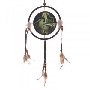 Dreamcatcher lup Cantecul Lupilor - Lisa Parker 16 cm
