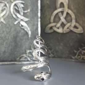 Inel argint Șarpe R4000