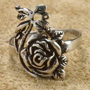 Inel argint Trandafir