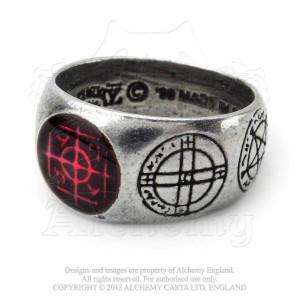 Inel - talisman protectie si bunastare Agla (N-W)