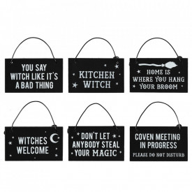 Mini placuta decorativa metal Witchy