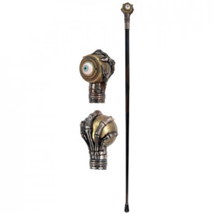 Oculus steampunk decorative walking stick