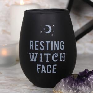Pahar de vin negru Resting Witch Face