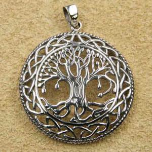 Pandantiv argint Copacul vietii cu nod celtic 3.5cm