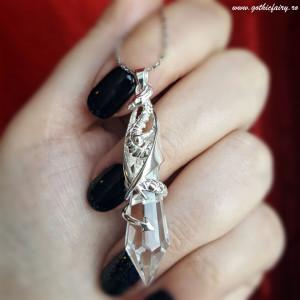 Pandantiv argint dragon Pastratorul cristalului - Anne Stokes