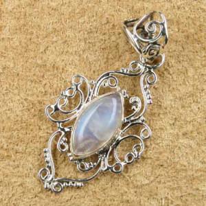 Pandantiv argint Ornament cu piatra Lunii