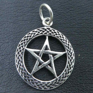Pandantiv argint Pentagrama 3.5 cm