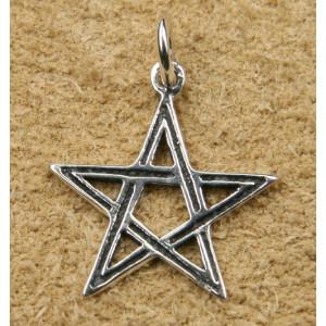 Pandantiv argint Pentagrama